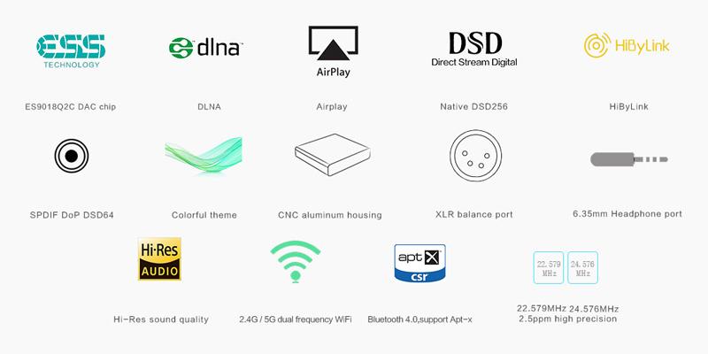 SMSL DP3 Lecteur réseau features