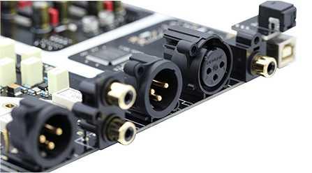 Connectique DAC 1 XLR Symétrique