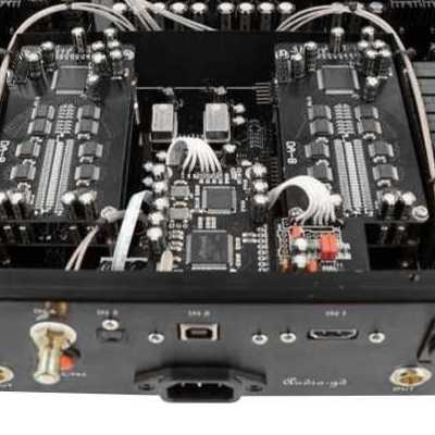 DAC audio interface with GD Amanero 384 USB combo