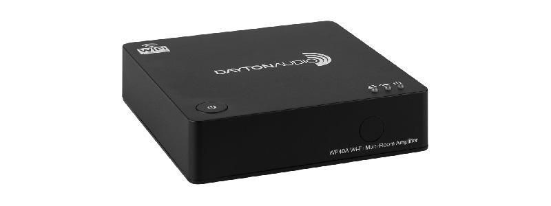 Dayton Audio WF40A Amplificateur Multiroom WiFi 2x20W avec Télécommande IR