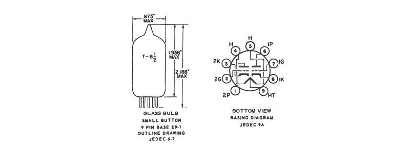 Tung-Sol 12AU7/ECC82 tubes de qualité militaire (la paire)