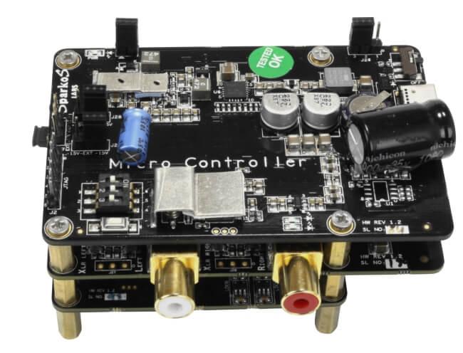 Allo Katana DAC pour Raspberry Pi ES9038Q2M 32bit 384kHz DSD128 6x AOP SparkoS Labs