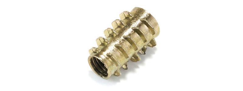 Insert pour bois zinc M6x18x11mm (Unité)