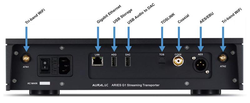 Auralic Aries G2 Connectique