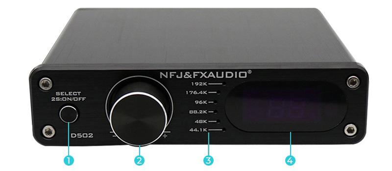 FX-Audio D502 Face avant