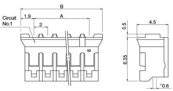 schema connecteur ph