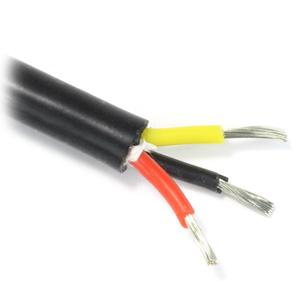 Câble Triple Conducteur Silicone 0.75mm² Noir (Au mètre)