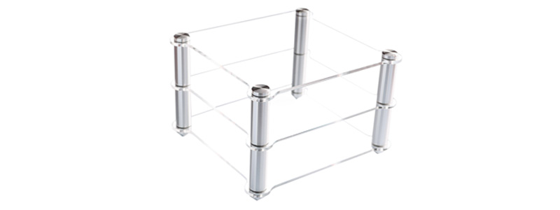 Topping RACK Support HiFi Aluminium Acrylique pour PA3 / MX3 / VX3 / D30 / A30