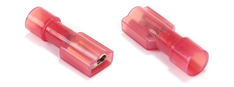 Cosses Femelles 4.8mm Isolées Nylon 0.5 - 1.5mm² Rouge (set x10)