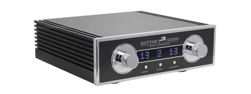 Hattor Audio Préamplificateur passif symétrique avec atténuateurs Khozmo à résistances Takman Rex