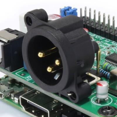 XLR AES EBU Raspberry PI SBC