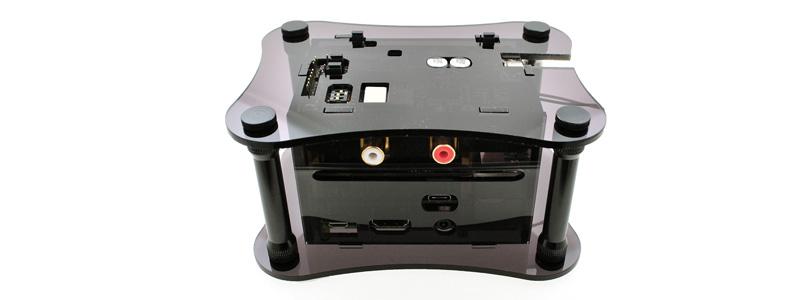 Boîtier Acrylique Noir pour Raspberry 3 + Katana + Isolator V1.2