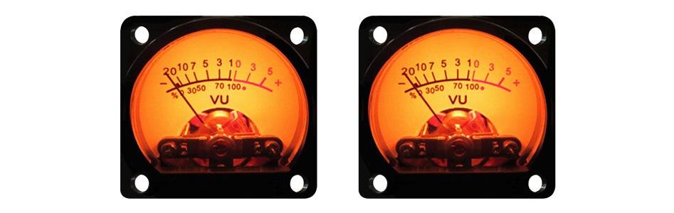 Vumètre rond avec contrôleur Ø 35mm