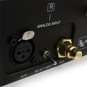 RCA jack and XLR power amplifier