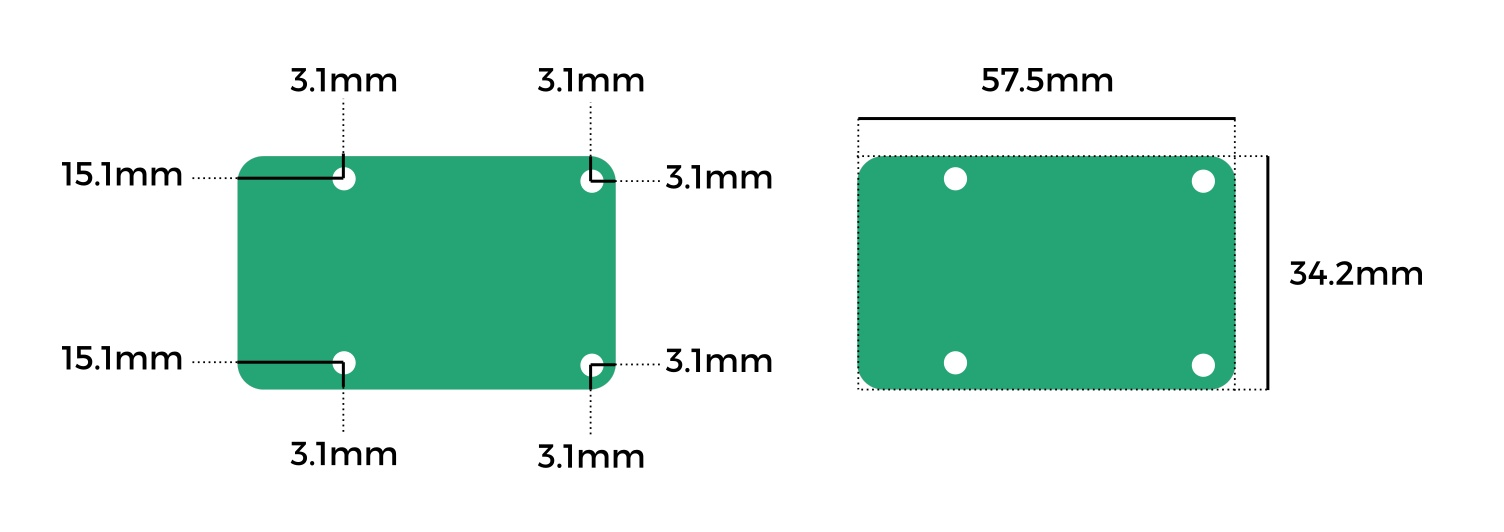 ADC module dimensions and spacers