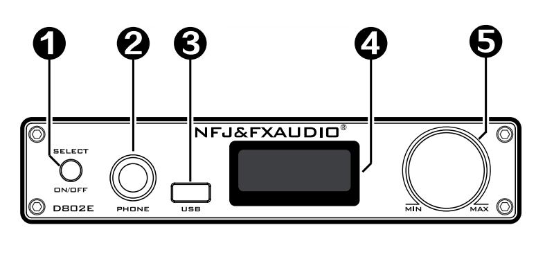 E D802 FX Audio Front