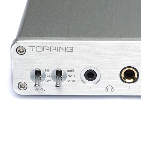 A30 audio preamplifier Topping & headphones