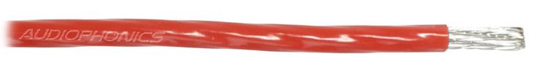 Fil de câblage Cuivre / Argent 4mm² Gaine PTFE Ø 3.6mm Rouge