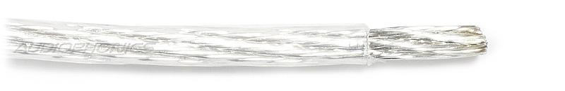Fil de câblage Cuivre / Argent 4mm² Gaine PTFE Ø 3.6mm Transparent