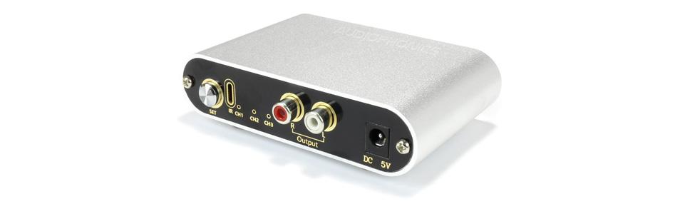Sélecteur de source 3 RCA vers 1 RCA avec télécommande
