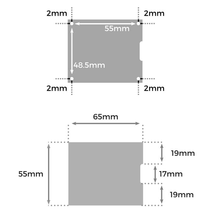 line dimensions drilling hat UPS RPI