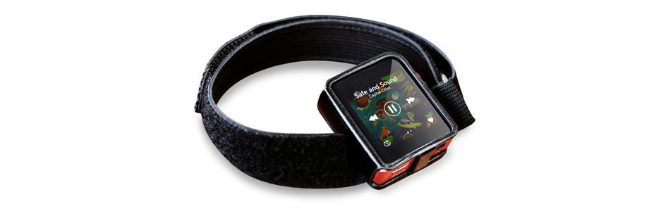 Housse de Protection Similicuir Noir avec Bracelet pour Shanling M0 DAP