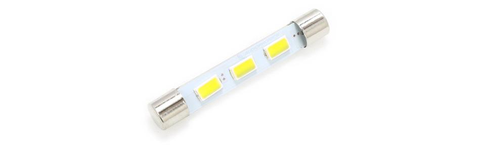 Ampoule Navette LED Blanc Chaud pour Éclairage Vu-Mètre / Tuner 6.3V