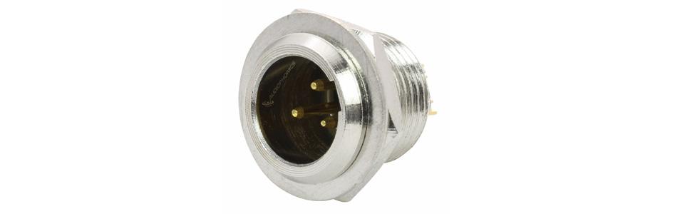 Connecteur Mini XLR 3 Pins Mâle Plaqué Or Ø5mm (Unité)