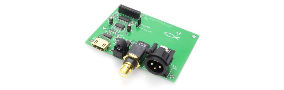 Interface Digitale I2S / SPDIF / AES vers I2S / USB avec Emplacement pour Interface Amanero / XMOS