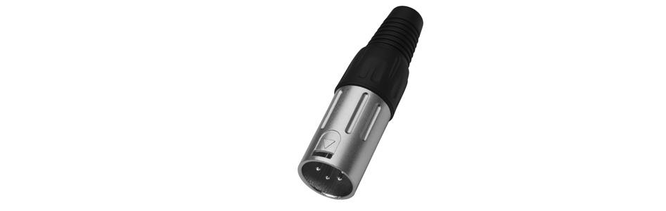 Monacor XLR-804/P Connecteur XLR 4 Pôles Mâle Ø9mm