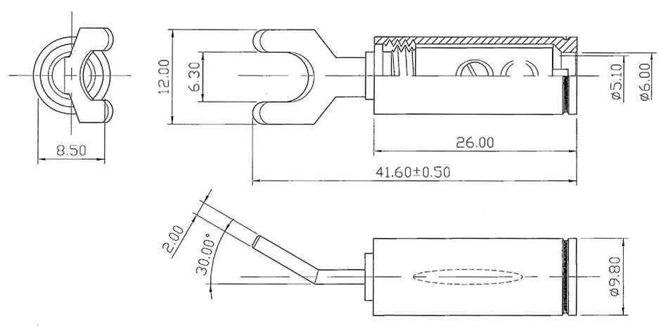Fourches Cuivre Tellurium Plaqué Argent Traitement Cryogénique (Set x4)