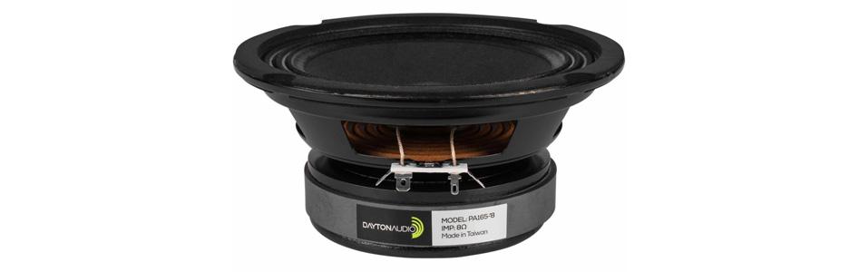 Dayton Audio PA165-8 Haut-Parleur de Grave / Bas Médium 75W 8 Ohm 92.9dB 80Hz - 5kHz Ø15.2cm