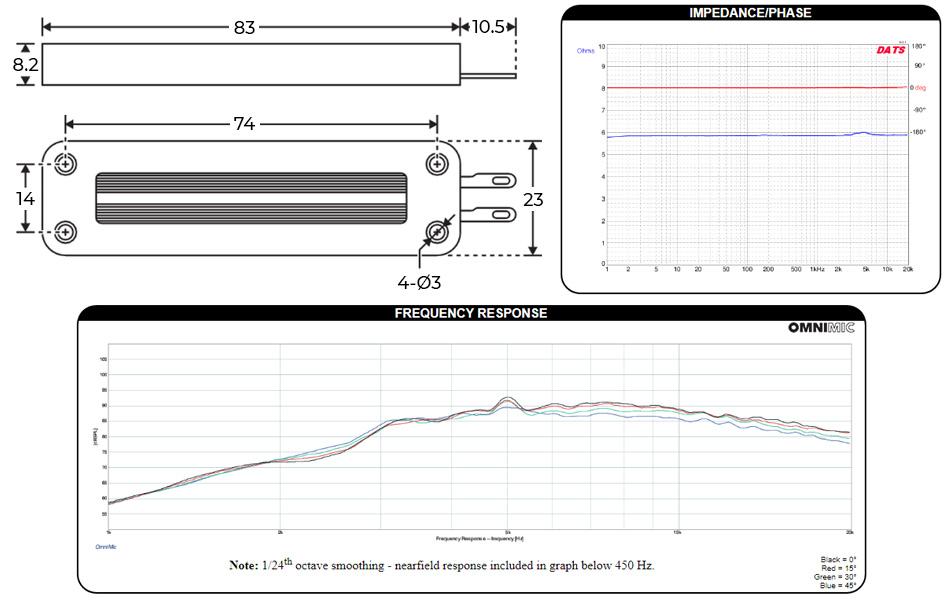 DAYTON AUDIO PTMINI-6 Haut-Parleur Tweeter Planar 15W 6 Ohm 90dB 2900Hz - 25kHz