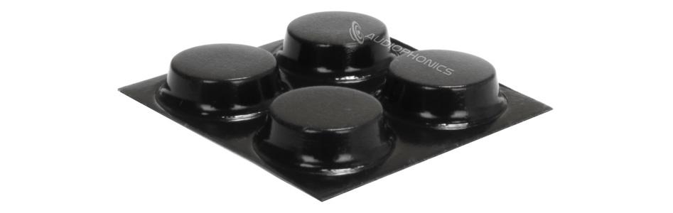 3M BUMPON Pieds Polyuréthane 13x3.5mm Noir (Set x4)