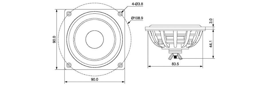 Dayton Audio Dma90 Pr Aluminium Passive Radiator 38hz 8 9cm