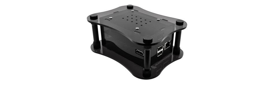 Allo USBridge Audio Streamer Squeezelite Volumio for USB DAC Acrylic Black