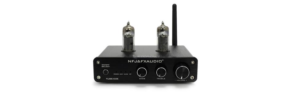 FX-Audio Tube-03E Préamplificateur à Tubes avec Contrôle de Tonalité 2x6K4 Bluetooth Noir