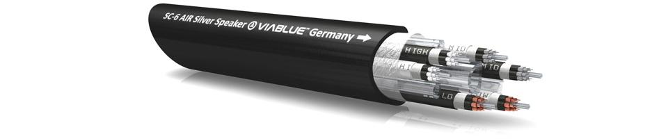 Viablue SC-6 Câbles d'Enceintes Bananes Cuivre OFC Plaqué Argent 3m (La Paire)
