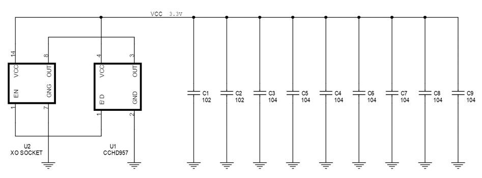 Ian Canada CCHD957 Supports Adaptateurs pour Horloges XO (x2)