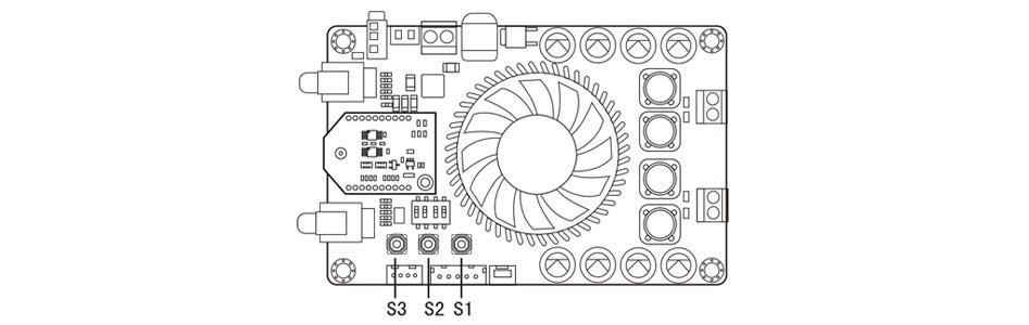 Tinysine TSA7510B Module Amplificateur Class D TPA3221 Bluetooth aptX TWS 2x100W