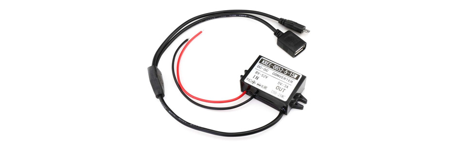 Tinysine Convertisseur DC-DC 8V-52V vers 5V USB-A / Micro USB