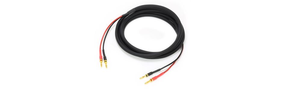Audiophonics Cobalt Câbles d'enceintes bananes Cuivre OFC Plaqué Or 2x4mm² 3l (La paire)