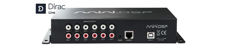 MiniDSP C-DSP 8x12 DL Processeur Audio DSP Dirac Live SHARC ADSP21489 12 Canaux