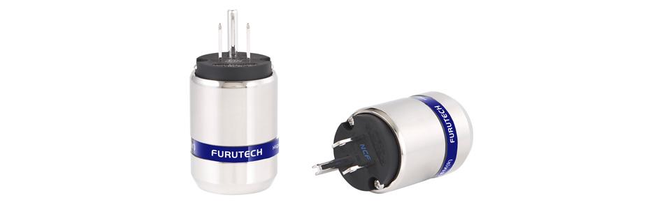 Furutech FI-48M NCF (R) Connecteur USA NEMA 5-15 Cuivre Plaqué Rhodium Traitement Alpha NCF Ø20mm