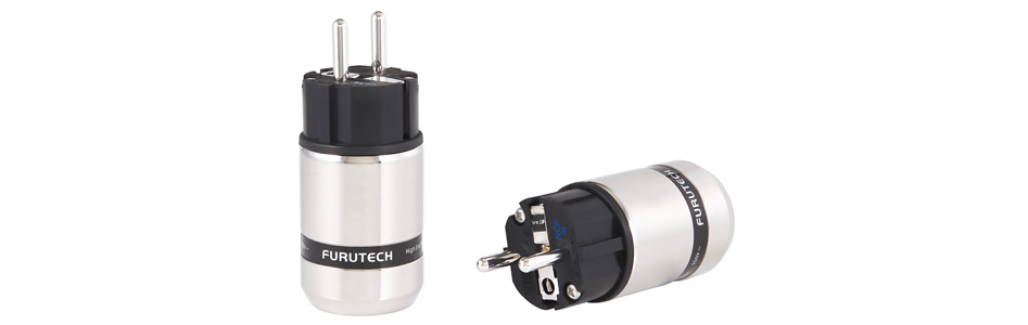 Furutech FI-E48 NCF (AG) Connecteur Schuko Cuivre Plaqué Rhodium Traitement Alpha NCF Ø20mm