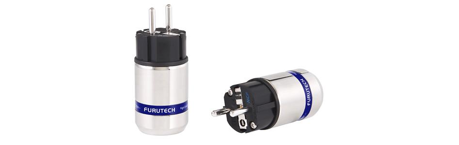 Furutech FI-E48M NCF (R) Connecteur Schuko Cuivre Plaqué Rhodium Traitement Alpha NCF Ø20mm
