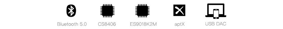xDuoo XQ-50 Récepteur Bluetooth 5.0 aptX CS8406 DAC ES9018K2M 16bit 44kH