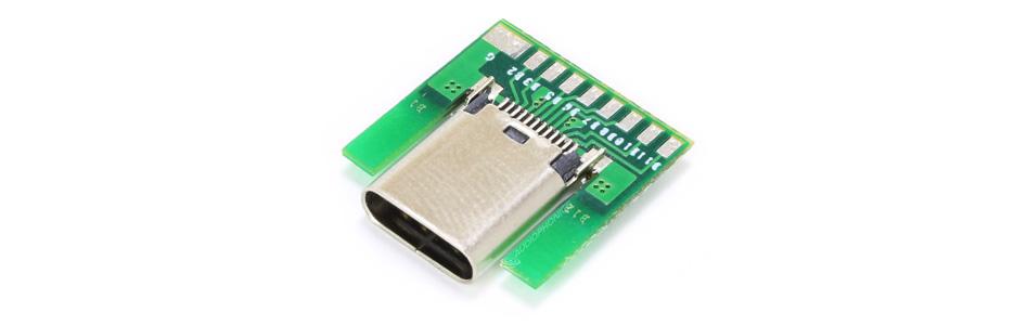 Embase USB-C Femelle SMT avec PCB