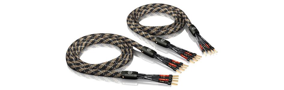 Viablue SC-4 Bi-Amping Câble pour Enceintes Bi-Amplification Cuivre OFC plaqué Argent Ø12.5mm 3m (La paire)