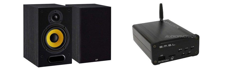 Pack Enceintes Bibliothèques Davis Acoustics MIA 20 + SMSL SA-36A PLUS